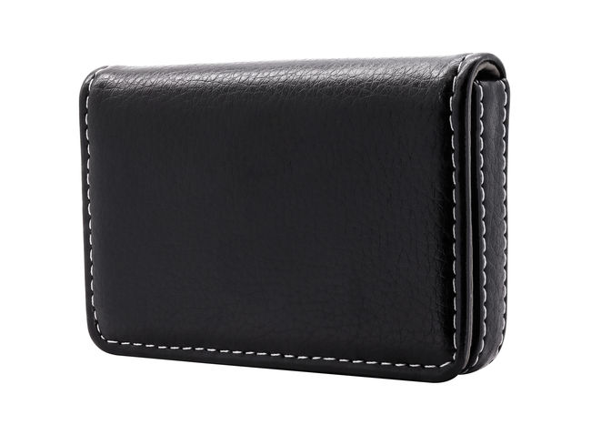 Leather card holder isolated on white background. Template of leather wallets for your design. ( Clipping path ) Business CutOut Isolated Leather Wallet Background Bag Black Color Blank Card Clipping Path Copy Space Cut Out Design Empty Holder Holders Isolated White Background Leather Paper Plastic Template Wallet White White Background