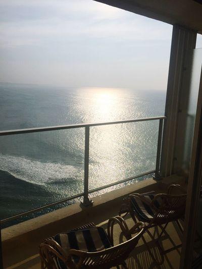 Sea Railing Horizon Over Water Water Scenics Tranquil Scene Nature