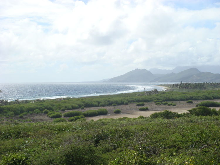 Beach Blue Coast Coastline Green Nature Ocean Sea St. Kitts Water