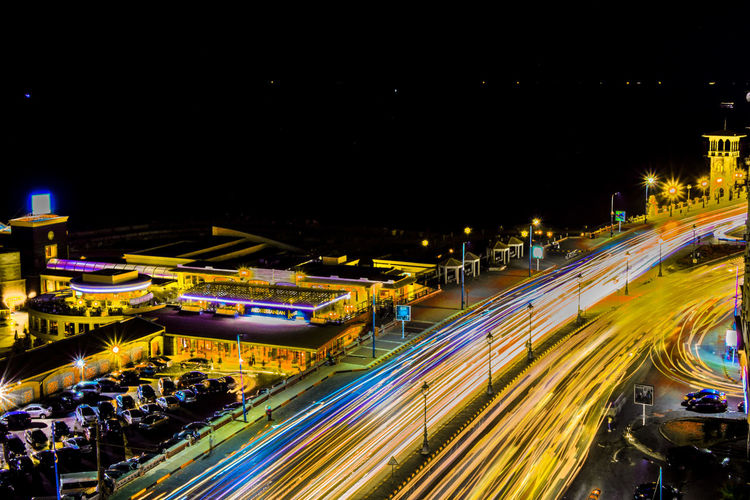Paint The Town Yellow Nikond5300 Nikon18_55mm Nikonphotography Night Long Exposure Speed Car Outdoors Street Light Street Road City High Angle View Light Trail Transportation Traffic Yellow Yellow Color Yellowlines Yellowlights