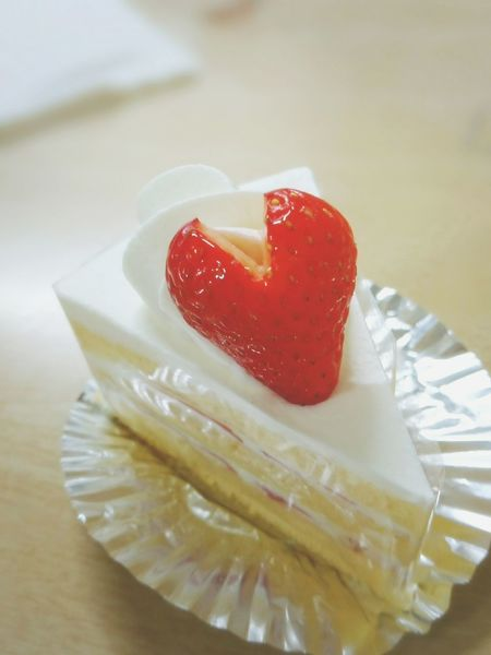 Sweet Food Food Dessert Red Cake Close-up EyeEmNewHere Macro Sweets Heart ショートケーキ Strawberry