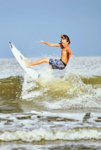 EyeEm Selects Sea One Person Leisure Activity Motion Water Fun Sport Outdoors Surfing Lifestyles Day Summer Enjoyment Vacations Activity Nature Real People Adventure Extreme Sports Young Adult