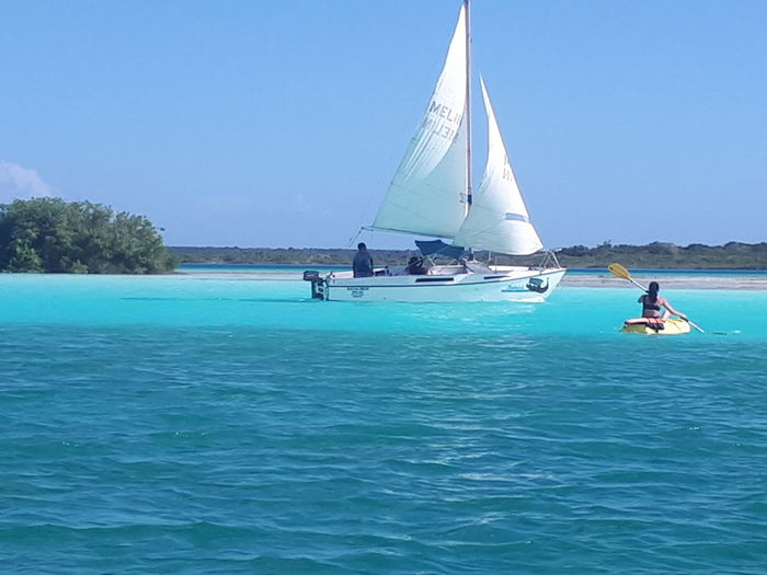 tonos de azúl Water One Person Leisure Activity Adult Adventure Blue People Nature Sailboat Sport Real People Nautical Vessel Sailing Lifestyles Outdoors Sky Oar