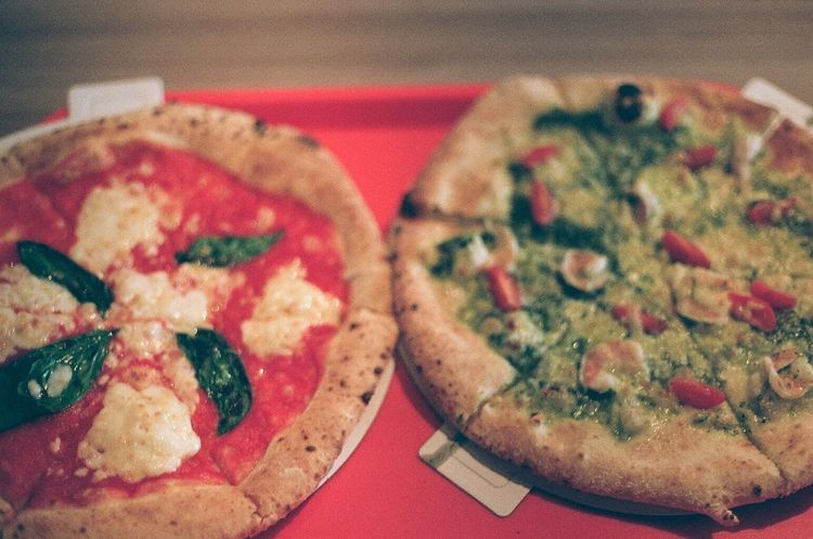 Film Photography Film Red&green Pizza Food Ready-to-eat
