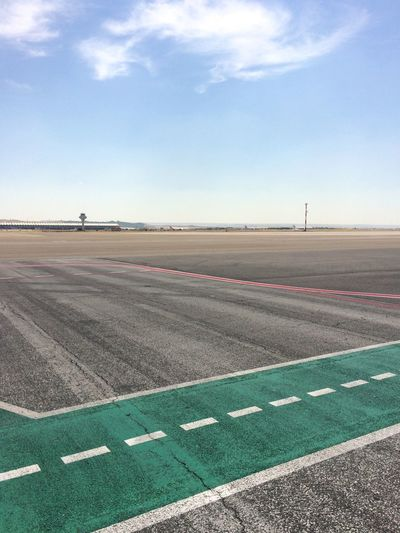 Empty Airfield Against Sky