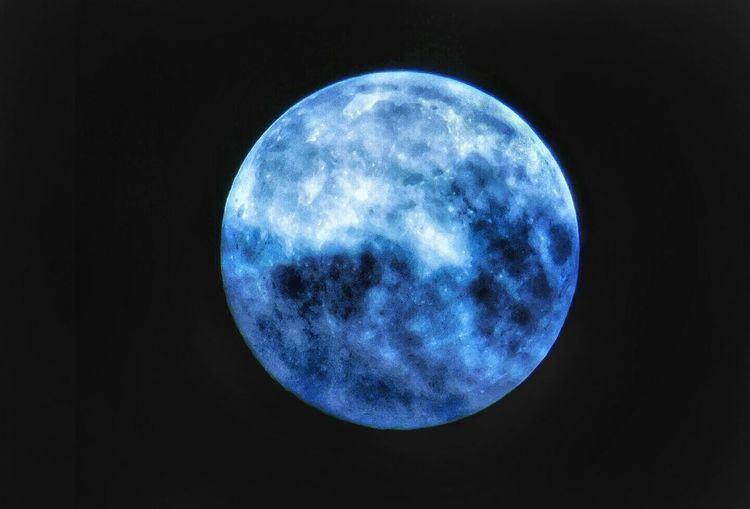 Moon Astronomy Full Moon Night Planetary Moon Moon Surface Blue Star - Space Space Exploration No People Space Nature Beauty In Nature Sky Outdoors Close-up Satellite View Galaxy Backgrounds Nikonl840 Blue Moon Discovery Light Blues Moon
