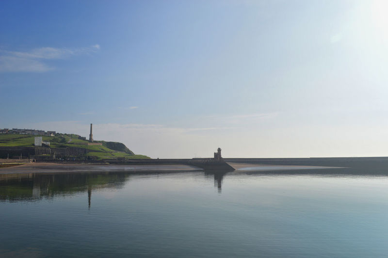 Cumbria Harbour Lighthouse SAFE HAVEN Architecture Beauty In Nature Built Structure Calm Sea Calm Water Day Nature No People Outdoors Scenics - Nature Sea Sky Sunlight Tranquil Scene Water Whitehaven Whitehaven Habour