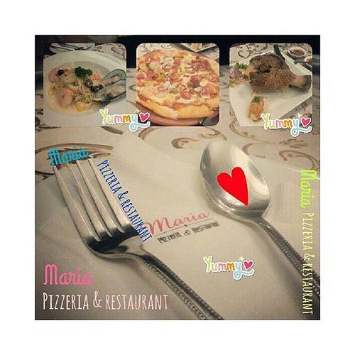 Maria Pizzeria & restaurant Yummy Halfpizza Pizzaseafoodandbacon Germanporkhocks งานอ้วนค่าาา กินอย่างอิ่มเบยยยย อิ่มยันสายยย ♥♥♥
