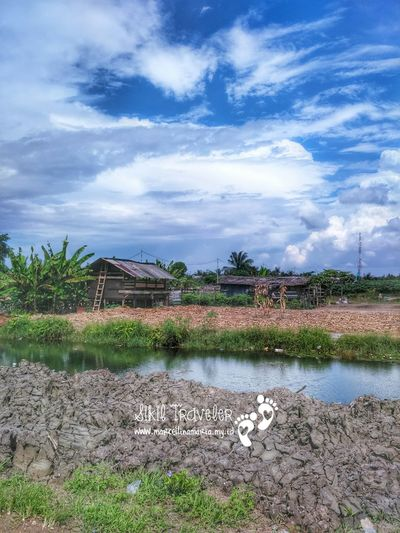 A village, where I live with the clear blue sky, and stream The Traveler - 2015 EyeEm Awards Check This Out Enjoying Life EyeEm Indonesia Clouds And Sky Stream Wooden Houses Old Wooden House Sikil Traveler