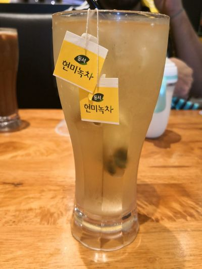 Korean Tea Green Tea Teabag EyeEm Selects Drink Drinking Glass Close-up Food And Drink Herbal Tea Ice Cube Drinking Straw