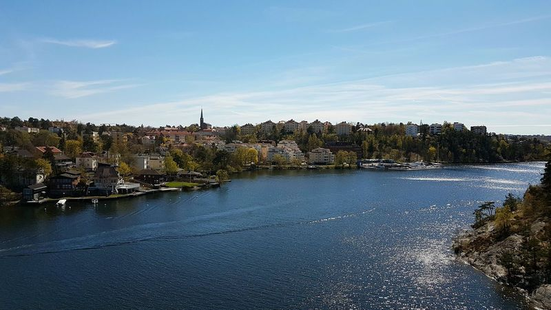 No People Outdoors Building Exterior Day Water Sky Cityscape Stockholm, Sweden Stora Essingen, Stockholm Bridge Tree Tranquility Nature