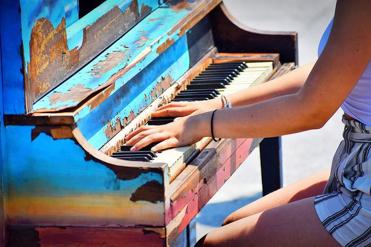 Musical Equipment Musical Instrument Piano Music Arts Culture And Entertainment Piano Key Playing One Person Pianist Keyboard Instrument Human Body Part Musician Hand Real People Midsection