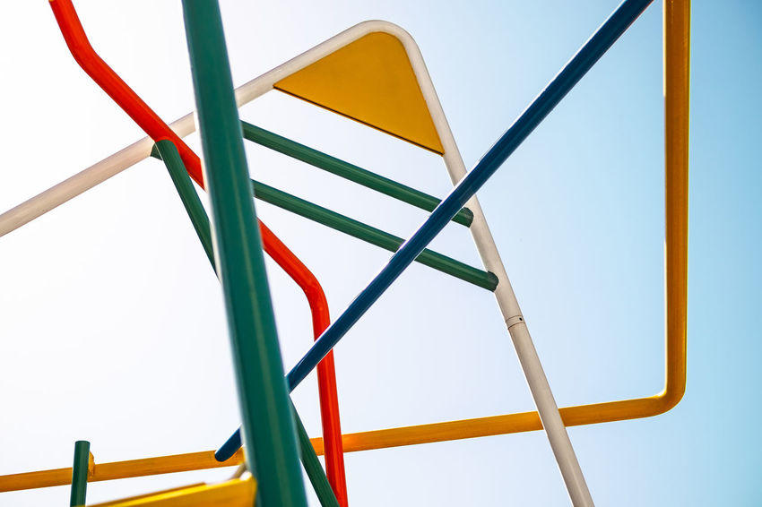 A playground? Nope. An art installation at the entrance of Glories shopping mall in Barcelona, Spain. ArtWork Barcelona Catalunya City Colors Graphic Lines Minimalist SPAIN Shopping Art Climbing Colorful Fujifilm Fujifilm_xseries Graphic Design Metal Minimal Minimalism No People Playground Shopping Mall Street Street Photography Streetphotography