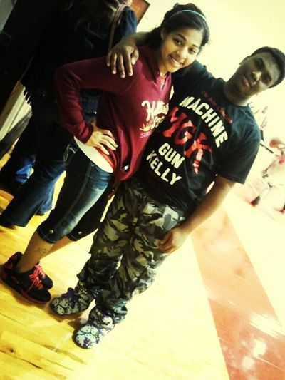 Me And Rojanee At The Game , !