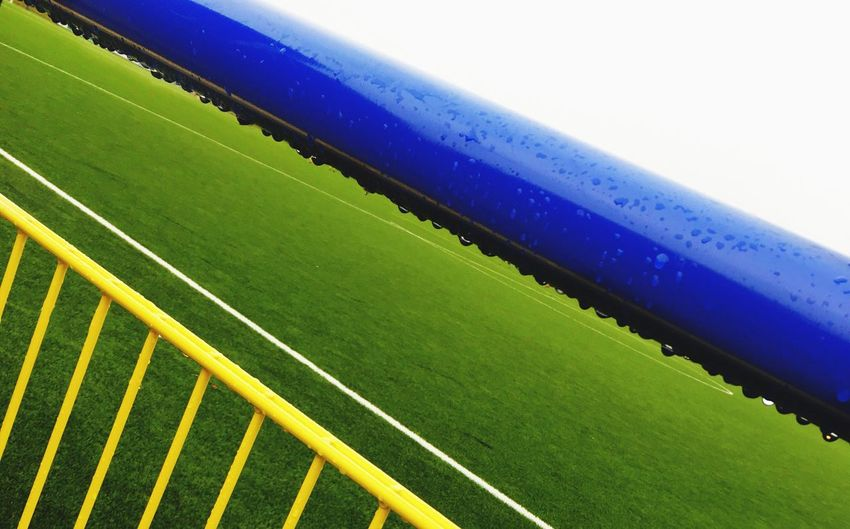 Green Color Backgrounds Full Frame No People Close-up Day Outdoors Rain IPhoneography Soccer Field