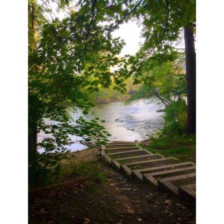 Path to Huron River. Ann Arbor Arboretum Michigan Nature Nature Photography Huron River