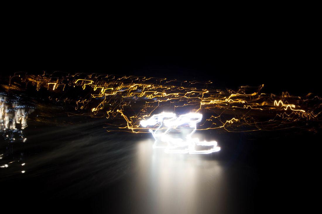 Dark Illuminated Light Light Painting Lines Night Pattern Surrealism
