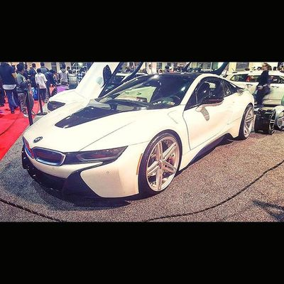 Such a beautiful clean i8 Bmw Bimmer I8 UltimateDrivingMachine Mpower Bimmerfest Bmwi8 Phillyautoshow2016