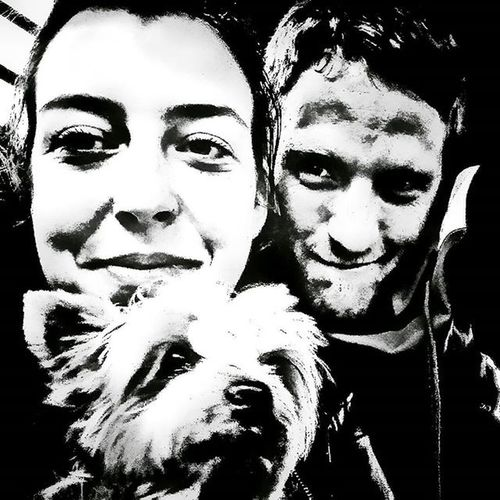 Goodbye Selfie with my Girls Yorkie Yorkshire Terrier Terrierlove Monochrome Trix Blackandwhite Sony XPERIA