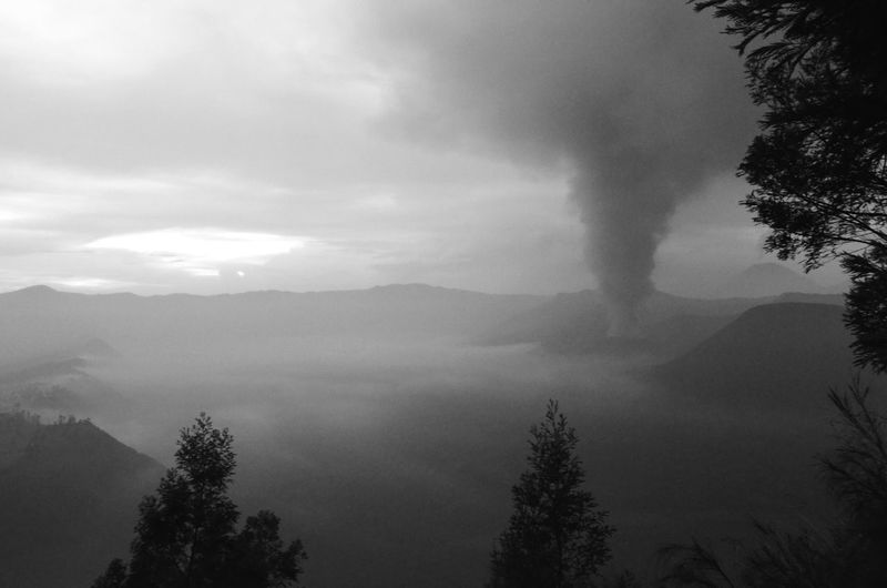 Erupting Mount Bromo Bromo Mount Bromo Cemoro Lawang INDONESIA Volcano
