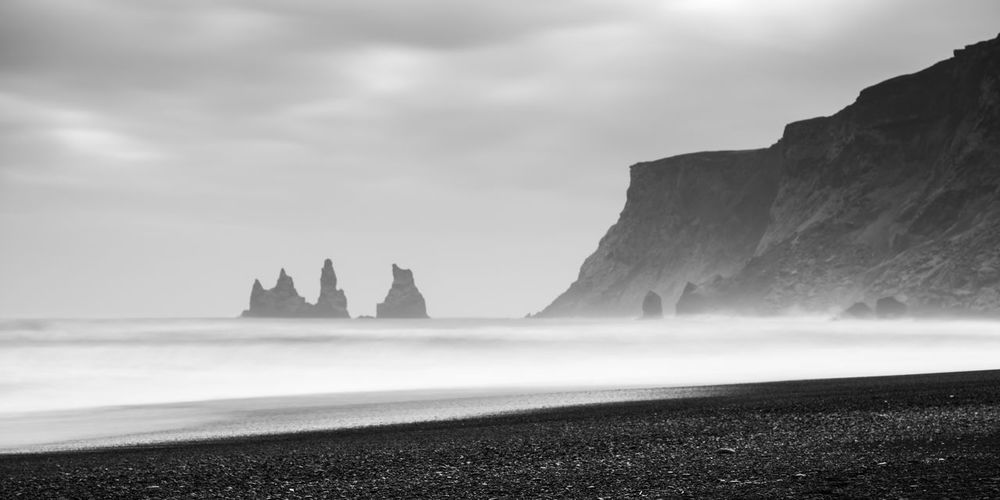 Vik Iceland Seascape Landscape_photography Landscape Rock Formation Water Ocean Black Sand Beach