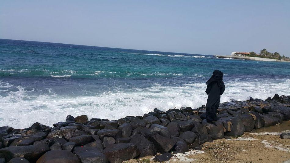 Babi NewCorniche Saudi Arabia Jeddah Arabwoman Abayaa Seaport Seaside Seashore RedSea babi