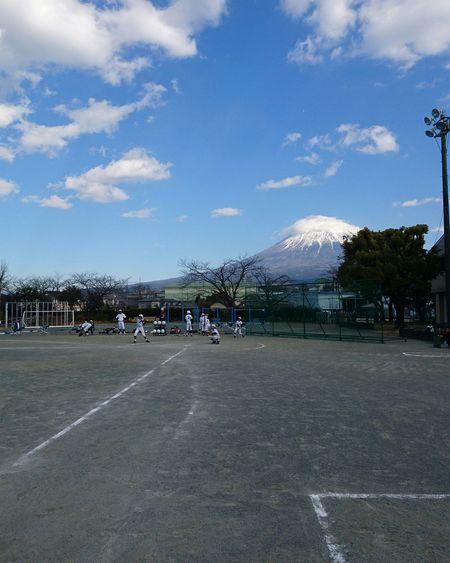 First Eyeem Photo 富士山 Mt.Fuji 少年野球 Baseball