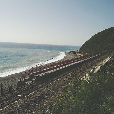 鐵軌,海岸線多良車站 @台東