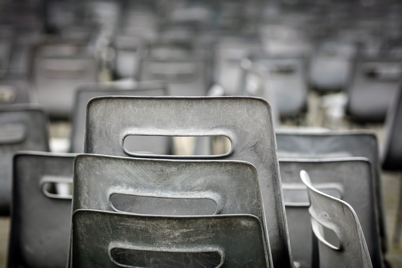 Close-Up Of Empty Chairs At St Peter Square
