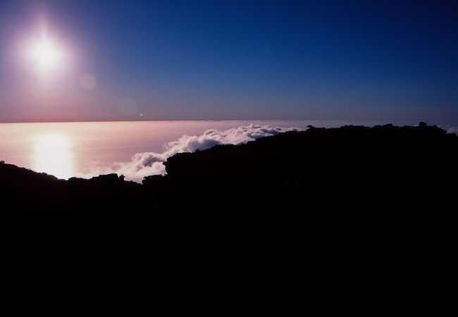 Slide Film Aerial View Atmosphere Beauty In Nature Cloud - Sky Copy Space Dark Environment Film Photography Horizon Idyllic Landscape Nature Night No People Outdoors Scenics - Nature Silhouette Sky Space Tranquil Scene Tranquility