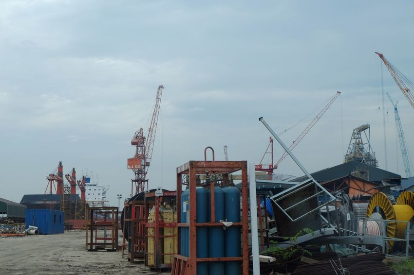 The Week On EyeEm Sky Construction Site Cloud - Sky Industry Day Crane - Construction Machinery Outdoors Built Structure No People Architecture Shipyard Nature Drilling Rig Oil Pump Heavy Engineering