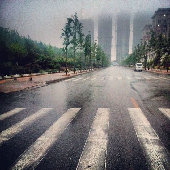 Qingdao Huangdao Nuoshawan Zhushanwenyuan rain 黄岛 青岛 小区