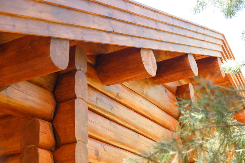 Low angle view of wooden structure