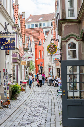 Architecture Bremen Building Building Exterior City City Life Day Germany Medieval Narrow Outdoors Schnoor Schnoor In Bremen