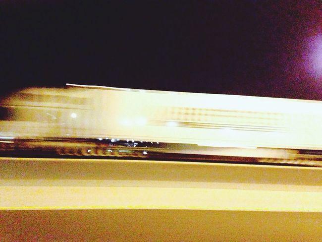 Truck Night Train Fast