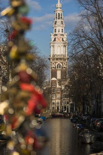 Amsterdam, Church Love Perspective Selective Focus Slotjes Op De Bru Urban Zuiderkerk