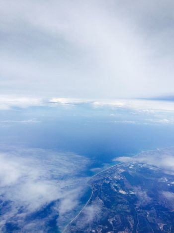 Blue Sky From The Plane Window