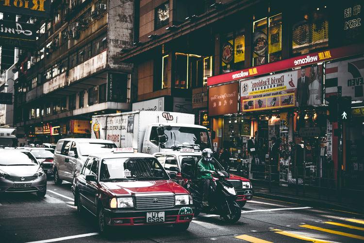 City City Life City Street HongKong Taxi Transportation Building Car Day Land Vehicle Streetphotography