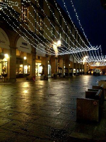 Saluzzo  City Winter Light Water Reflections