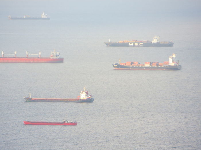 Waiting Business Cargo Container City Commercial Dock Container Ship Day Freight Transportation Harbor High Angle View Industry Mode Of Transport Nature Nautical Vessel No People Oil Industry Oil Pump Outdoors Sailing Sea Ship Shipping  Sky Transportation Water Breathing Space