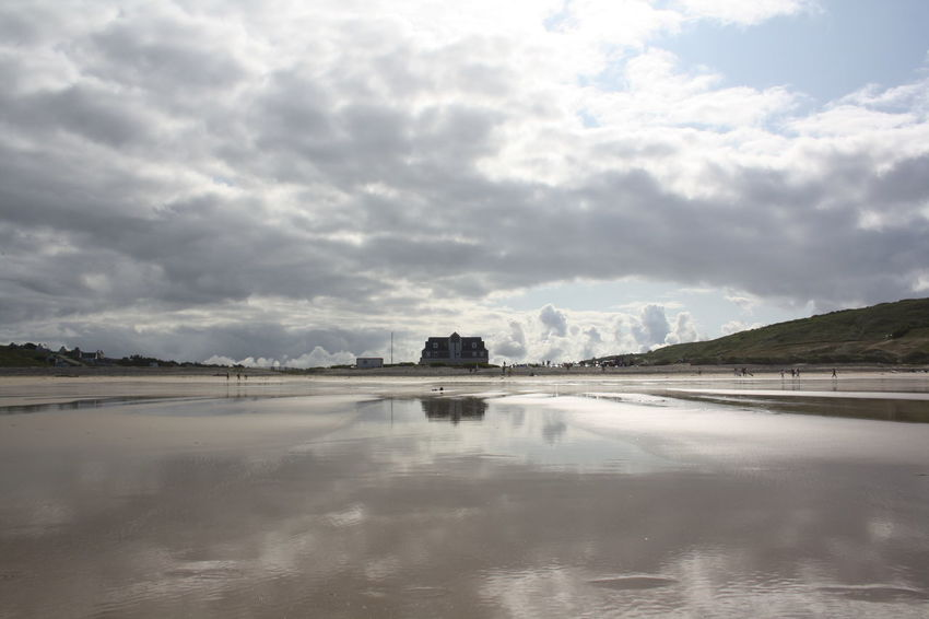 Baie Des Trépassés Brittany, France Cloudscape Wet Sand Bay Beach Beauty In Nature Built Structure Cloud - Sky Cloudformation Cove Bretagne Lightreflections In Water Mirror Effect Nature No People Outdoors Reflection Sand & Sea Scenics Sky Tranquil Scene Tranquility Water
