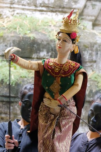 Puppet name's Si-da in Ramayana novel Novel Puppet Puppet Show Histroy  Old-fashioned Beauty Portrait Beautiful People Headwear Historic Vintage Temple