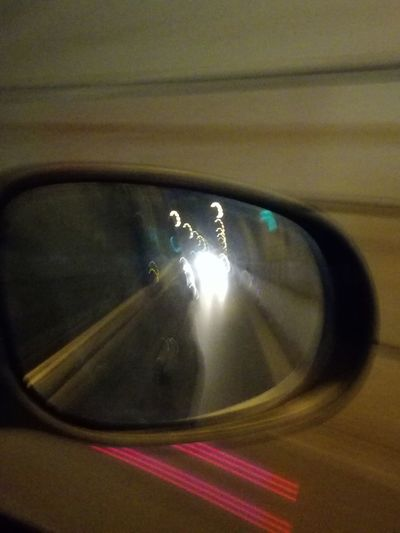Driver's reflections collection Italy🇮🇹 Lillireality From My Point Of View The Purist (no Edit, No Filter) Driver's Reflections Collection No People Illuminated Indoors  Day Side-view Mirror Blurred Motion Driving Around Mirror Reflection Reflections Abstractphotography No Filter No Edit Close-up Urbanphotography Speed Transportation Road