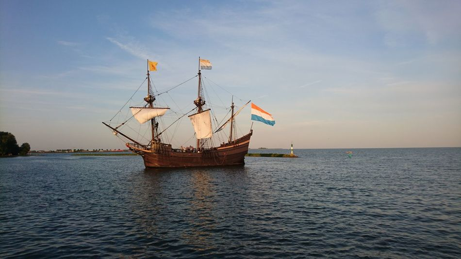 Sailing Ship Nature Water Day Sunset Halve Maen Hoorn, Netherlands Backgrounds Sun Cloud - Sky Atmospheric River Daydreaming Nature Sea EyeEmNewHere Beauty In Nature Landscape Sailing nautical vessel