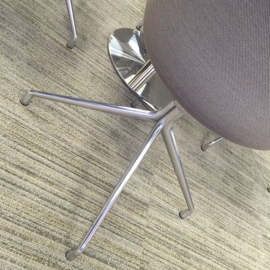 Legs Upholstery Office Chair Office Interior Design Interior Funiture Khaki Grey Carpet Chairs And Tables Chairs Chair High Angle View Indoors  Metal Textile No People Table Pattern Flooring