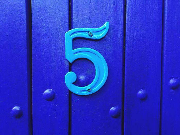 Close-up of door number