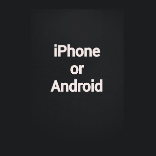 Seriously, someone make the decision. IPhone Android Uuuuuh