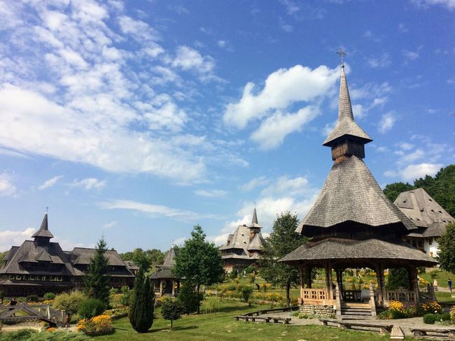 Old Romanian  Monastery Travel Destinations Travel Architecture Religion Built Structure Sky Building Exterior Spirituality Place Of Worship Cloud - Sky Tree Day No People Outdoors Nature Culture History Tranquility Travel