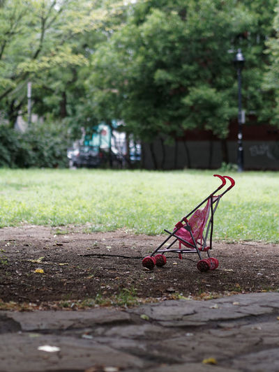 Empty stroller in a park (sorry for the gloomy tags) Grief Kidnapping Abducted Abduction Absence Empty Empty Stroller Gloomy Lost Child Missing Children No People Sorrow Stroller