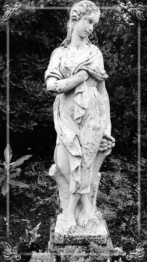 The Midnight Garden (1) Statue Sculpture Art And Craft Human Representation No People Representing Outdoors Day EyeEm Gallery Photographer Photooftheday EyeEm Best Shots Enhanced Photograph EyeEm Selects Beauty In Nature Scenics Photography Full Frame Focus On Foreground Fragility Close-up Statues Statues And Monuments